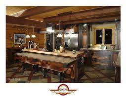 comptoir de c駻amique cuisine armoire de cuisine en pin noueux noir usé et teint couleur