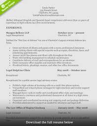 Receptionist Resume Legal1 Sample