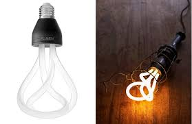 beautiful sculpted lightbulb for a shade wired