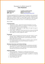 Example Skills Based Cv Transform Resume Communication Examples About Of Skill Template