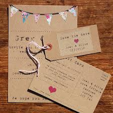Awesome Bunting Wedding Invite Contemporary