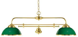 lustre billard pas cher suspension billard verte en bois verni et laiton poli réf 13060267