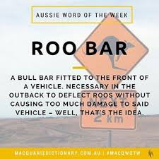 Our AussieWord Wordoftheweek Is Roo Bar Mick Taylor Might Have Used One Of