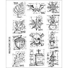Cosmo Pfirsichfarbenes Oxfordgewebe Mit Bunten Briefmarken Mit