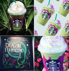 Starbucks Dragon Frappuccino Collage