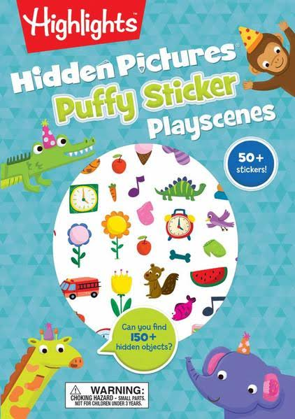 Hidden Pictures Puffy Sticker Playscenes - Highlights Staff