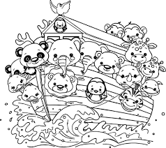 Nice Noahs Ark Cartoon Coloring Pages