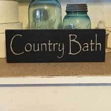 Primitive Outhouse Bathroom Decor by Farmhouse Decorcountry Bath Wood Sign Bath Sign Country