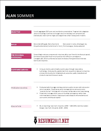 Great Resume Examples 2017 Template Samples