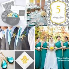 Teal Yellow Gray Wedding Color Story Features Pantones Turbulence Pantonefall2013 Fallweddingcolors