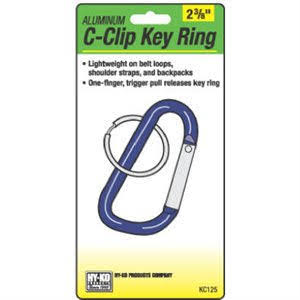 "Hy-Ko Products C-Clip Aluminum Key Ring - 2 3/8"", Small"