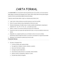 Resumen De La Carta Formal