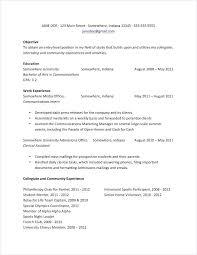 Resume Student Sample College Senior Examples On Summary