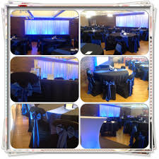 blue and black tablecloths table runners chair covers w sash