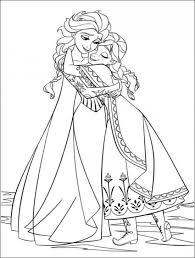 Elsa And Anna Hugging Free Coloring Page