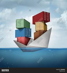Ocean Cargo Ship As A Container Boat Transporting Heavy Freight Paper Vessel Carrying Shipping
