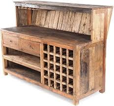 vintage design barschrank purewood 150x110cm bxh shabby minibar bar theke aus altholz verkaufstresen kassentresen kultiges dekoobjekt
