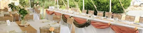 Burlap Peach Silver Rustic Chic Garden Wedding Decor London Ontario