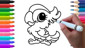 How To Draw Parrot And Learn Colours For Kids