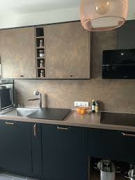 nobilia küchenzeile küche modern wie neu kupfer bronze schwarz
