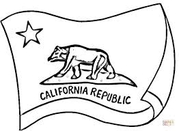 750x551 California Flag Coloring Page Free Printable Pages