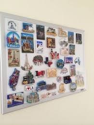 Travel Magnets From Around The World Beige Living RoomsTravel WallDisplay CasesEmerald