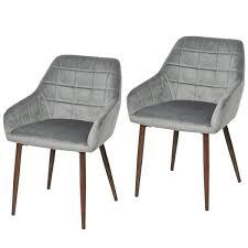 homcom esszimmerstühle 2er set küchenstuhl armlehnstuhl