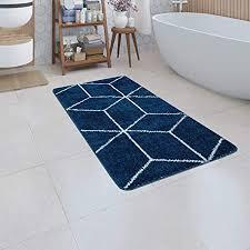 tapijten badematte in blau kurzflor teppich für badezimmer