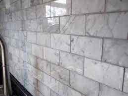 italian white carrara marble 2x4 brick pattern honed mosaic tile