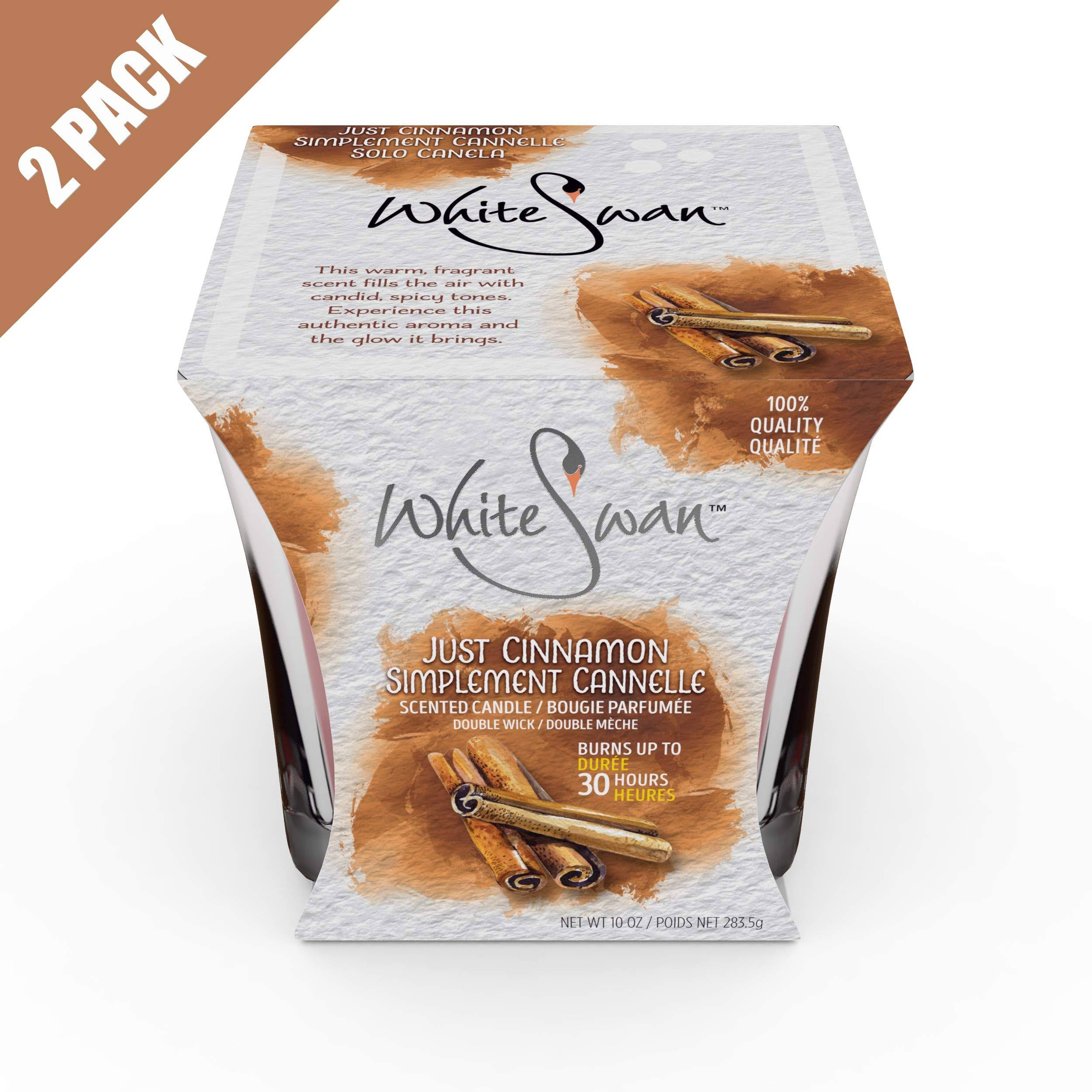 White Swan Premium Scented Candle (Just Cinnamon) & Large Candle Set - Long Lasting -30 Hrs | Pure Natural Strong Fragrance Ideal for Bath or