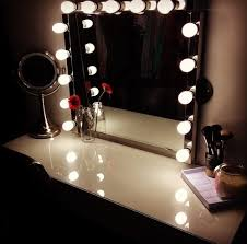 vanity makeup mirror with light bulbs panels world