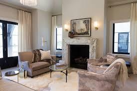 Primitive Living Rooms Design by Sheepskin Living Room Stools Design Ideas
