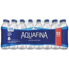 Aquafina Purified Water 169 Fl Oz Bottles 32 Count