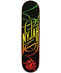element nyjah huston rasta swash 7 75 skateboard deck zumiez