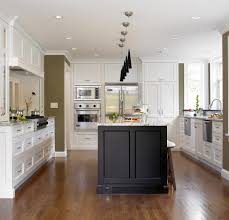 shaker style door kitchen transitional with pendant lighting
