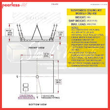 peerless heavy duty 2x2 foot suspended ceiling plate for tv mounts