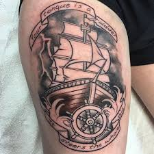 nice nautical tattoo by meagan bohrer sink the ink tattoo