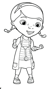 Disney Jr Coloring Pages Doc Mcstuffins Sheet Full Page Size