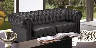 canap capitonn chesterfield deco in canape capitonne 3 places noir chesterfield can 2220