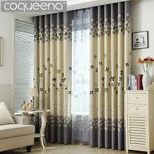 grau und creme floral drucken moderne blackout vorhänge für wohnzimmer das schlafzimmer home decor vorhang sets vorhänge fenster behandlung