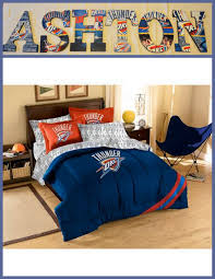 Bed Man Okc by Oklahoma City Thunder Inspired Wooden Letters Personalize Your