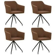 vidaxl esszimmerstühle drehbar 4 stk braun stoff 276051