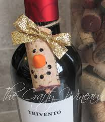 Frosty The Snowman Christmas Tree Ornaments by Choose Your Color Wine Cork Snowman Christmas Ornaments Wine