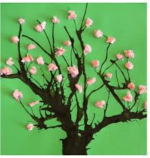 Free Easy Spring Crafts For Preschoolers Straw Tree Painting Fun Art Projects Fu On May Activities
