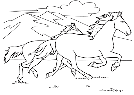 Beautiful Mustang Horse Coloring Pages 67 With Additional Books