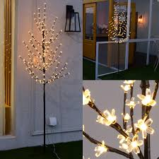5ft Christmas Tree With Led Lights by 1 5m 5ft 180 Led Cherry Blossom Tree Fairy Light Christmas Party