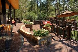 Lowes Deck Designer for a Southwestern Deck with a Step Down Patio