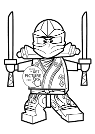 Lego Ninja Coloring Pages Green For Kids Printable Free