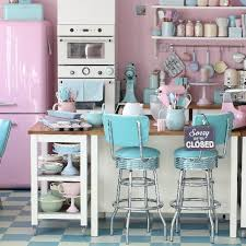 Pink And Blue Kitchen Decor Home Remodel Ideas