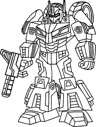 Outline Transformers Coloring Page